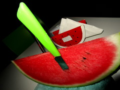 Yummy Italian Watermelon! (SyrianSindibad) Tags: italia italie laspezia night watermelon