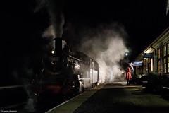 Night Train to Inverness (Articdriver) Tags: steam station railway train 46512 ivatt scotland highlands night platform strathspeyrailway boatofgarten passenger