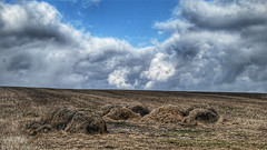 Lost (RainerSchuetz) Tags: hay haybail baleofhay clouds agriculture