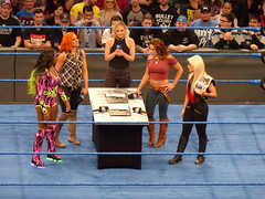 Smackdown Live (bballchico) Tags: wwe wrestler wrestling womensdivision contractsigning becklynch alexabliss mickie jamesnaomikey arenaseattleseattle center