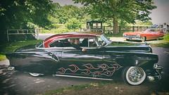 Just Cruisin.. (Harleynik Rides Again.) Tags: coolcars retro driveby flames custom car americana driving ride classic harleynikridesagain