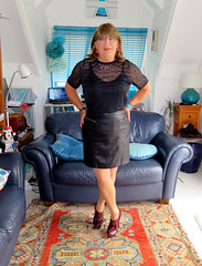 Short Skirt (Trixy Deans) Tags: crossdresser cute crossdress classy dress dresses skirts skirt tgirl tv transvestite transsexual tranny tgirls trixydeans transvesite crossdressing cd highheels hot heels