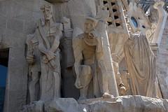 Sagrada Familia basilica, Barcelona (JohntheFinn) Tags: sculpture church statue spain europe mediterranean catalonia unescoworldheritagesite gaudi kirkko sagradafamlia antonigaudi antonigaud veistos eurooppa katalonia minorbasilica espanja vlimeri baslicaitempleexpiatoridelasagradafamlia
