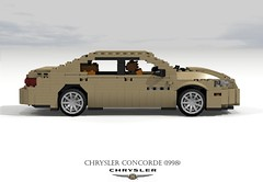 Chrysler Concorde (1998) (lego911) Tags: auto usa france 1969 car america plane airplane model lego render aircraft sonic aeroplane boom airline concorde sound barrier british passenger ba chrysler airways amc challenge fwd airliner lhs cad 79 lugnuts bac povray supersonic moc ldd aeronautical miniland arospatiale anglofrench lego911 lugnutsgoeswingnuts