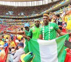 Nigerian fans! (Delma Eliane) Tags: brazil brasil stadium nigeria fans worldcup brasilia nigerians copadomundo2014 brazilworldcup2014