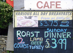 various all day breakfasts (steve marland) Tags: food sign wales menu typography graphicdesign cafe text numbers northwales signwriting