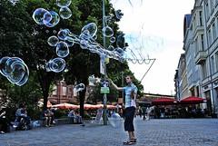 Berlin Hackescher Markt 100-Bubbler und Bubblebo