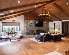 (deanmackayphoto) Tags: door wood light lamp stone table chair fireplace floor guitar ceiling livingroom couch sofa ottoman renovation decor fixture interiordesign hardwood endtable