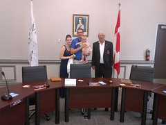 Monte, Kate, and Annie tour the new North Middlesex Shared Services Building in Parkhill with Mayor Don Shipway
