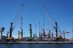 rostock port (Tintenfischkleber) Tags: port warnemünde ship harbour sony 1855 shipyard sel rostock dockyard warnemuende nex 5n