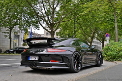 991 GT3. (Niklas Emmerich Photography) Tags: new 3 black streets cars car germany t fire one this photo model europe do power g nine capital wheels 911 saturday first 8 an best burning elf turbo german nrw after gt tuning bi dortmund v8 spotting v6 991 gt3 2014 biturbo facelift spotter neun my dormund worldcars