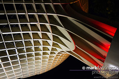 Matropol Parasol at Night (Mark R Farrington) Tags: red architecture night canon dark photography eos evening wooden spain europe seville parasol 7d litup desc2012