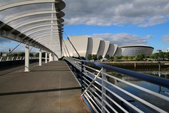 Bell's bridge, the Armadillo and the SSE Hydro, Glasgow, Scotland (Frans.Sellies) Tags: clouds scotland day glasgow sunny armadillo img3153 ssehydro