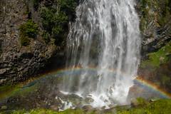Stevens Creek Falls Rainbow (Me in ME) Tags: waterfall washington rainbow stevenscreek stevenscreekcanyon mtraniernatpark