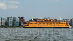 Staten Island Ferry on the Hudson River, New York City (jag9889) Tags: nyc newyorkcity usa ny newyork building tower ferry architecture river boat newjersey ship unitedstates manhattan unitedstatesofamerica vessel kayaking transportation hudsonriver meatpackingdistrict richardmeier paddling lowermanhattan statenislandferry waterway weehawken 2014 northriver jag9889 20140721