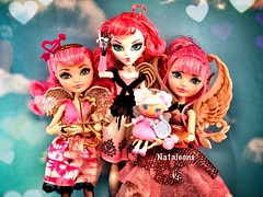 Come and Save Me Tonight (Nataloons) Tags: ca pink girls sky cloud white love girl beautiful monster angel hearts toy fly high wings doll skies heart unique group flight mini angels e bow after arrow cupid ever mga mattel monsterhigh lalaloopsy chariclo arganthone everafterhigh