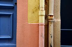 (Jean-Luc Lopoldi) Tags: couleurs ctedazur peinture porte mur var sud gouttire multicolore
