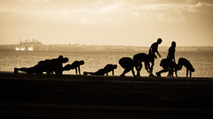 Sunday Morning 2 (Mariasme) Tags: street monochrome sport sepia training silhouettes matchpointwinner gamesweepwinner mpt434