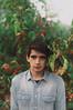 Michael (Ella Ruth) Tags: blue red portrait man tree green london nature leaves shirt outdoors 50mm photographer berries leicester 14 naturallight shrewsbury greenpark denim colourful eveninglight redberries brownhair michaelsavage nikond90 photographersmeetup ellaruth brookeshaden