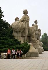 Monuments in Pyongyang (Frhtau) Tags: city people monument stone river children asian asia capital north culture korea east korean sight pyongyang dprk taedong