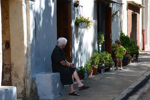Street scene in Corte (Corsica, France 2014)