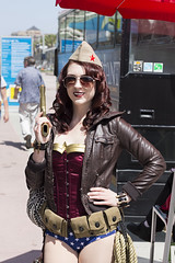 Pin Up Wonder Woman (Adolfo Perez Design) Tags: woman up vintage wonder book san comic pin cosplay diego international comiccon con sdcc