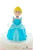 Cinderella (Little Cottage Cupcakes) Tags: birthday cake ruffles princess ombre cinderella caketopper fondant sugarpaste littlegirlbirthdaycake littlecottagecupcakes