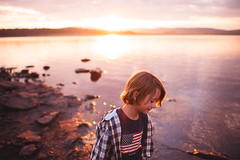 In your beauty (Adriana Varela) Tags: world life light boy sunset summer sun lake nature water childhood horizontal wonder outdoors peac