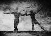 Ballade d'orage (Christine Lebrasseur) Tags: portrait people blackandwhite woman man france reflection art water canon dance couple body dordogne fr sébastien léane molières allrightsreservedchristinelebrasseur