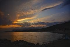 Sunset in Castiglione della Pescaia (Antonio Cinotti ) Tags: sunset sea italy beach clouds landscape nikon italia tramonto nuvole mare tuscany toscana spiaggia grosseto paesaggio maremma castiglionedellapescaia d7100 maremmatoscana nikon18300 nikond7100