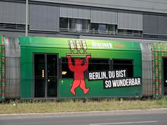 Wunderbar (onnola) Tags: berlin beer germany deutschland tram advertisement bier streetcar werbung mitte reklame gwb wunderbar berlinerbär berlinerpilsner guessedberlin gwbschlafauto strasenbanhn