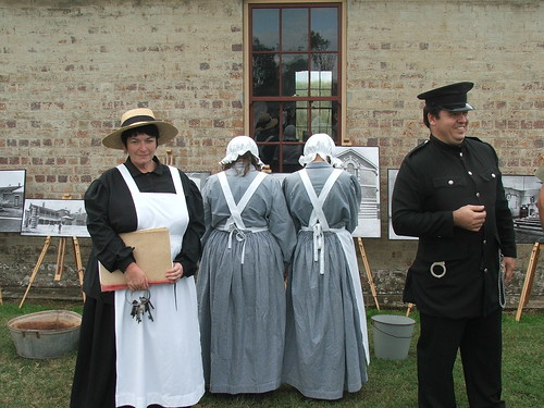Female Prisoners and Warder.