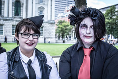 Amy and Rude (ColinParte) Tags: fashion youth cityhall gothic makeup lifestyle style belfast goths
