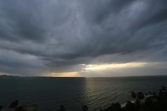 Rain in the Sea (772A0235) (Passenger32A) Tags: travel sea rain clouds thailand asia pattaya gulfofthailand