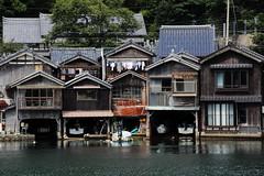 Boats in Houses (Teruhide Tomori) Tags: sea landscape countryside boat kyoto tango ine    fishingport     seasidehouse