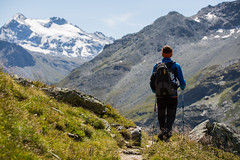Hiking (Franck_Michel) Tags: summer mountain montagne bokeh hiking glacier backpack ete randonee