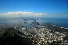Rio de Janeiro (Klauss Egon) Tags: ocean praia beach rio brasil riodejaneiro canon landscape mar paisagem sugarloaf pãodeaçucar bondinho maracana oceano guanabara