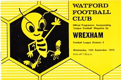 Watford vs Wrexham - 1973 - Cover Page (The Sky Strikers) Tags: road 3 magazine football division hornets league watford wrexham vicarage