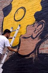 "Joseph ""Sentrock"" Perez (drew*in*chicago) Tags: street streetart chicago art graffiti 2014 littlevillage sentrock josephsentrockperez"