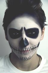 Skull (254/365) (istar_world) Tags: boy espaa smile face canon hair photography skull spain model eyes zombie makeup evil teen vogue 7d teenager esther 365 burgos devious eighteen 365days 365project estoa