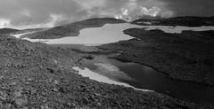 Fresvik glacier tour B&W III (MortenTellefsen) Tags: blackandwhite bw lake snow ice nature norway tour natur bre vik glacier norwegian tur highland breen sn vestlandet fjelltur topptur hyfjell fresvik brevann fresvikbreen
