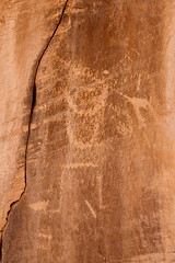Spear Thrower? (Piedmont Fossil) Tags: art rock utah indian nativeamerican petroglyph dinosaurnationalmonument