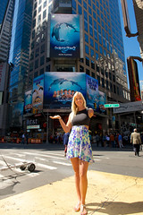 Bethany Hamilton | Dolphin Tale 2 | Times Square (Branded Cities Network) Tags: ny newyork movie entertainment timessquare movies bethanyhamilton femalesurfer onearmedsurfer dolphintale2