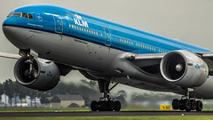 "KLM 777 rotating from 36L • <a style=""font-size:0.8em;"" href=""http://www.flickr.com/photos/125767964@N08/15075455698/"" target=""_blank"">View on Flickr</a>"