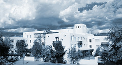 Mesa Vista Hall, University of New Mexico (newmexico51) Tags: mountains newmexico southwest clouds route66 albuquerque western nm toned unm southwestern universityofnewmexico pueblodeco mesavistahall gregorypeterson