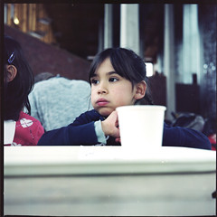 One shot, make it (Arne Kuilman) Tags: 6x6 cup girl amsterdam composition mediumformat lunch zoo objects boring tip frame info framing portra