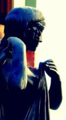 Roman profile in Bronze (N@ncyN@nce) Tags: girl statue museum bronze garden ancient bath erotic roman landscaping profile innocent young villa getty bathe bathing toga romanbath undress gardenstatuary badden