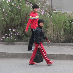 Morning Commuters in Pyongsong  North Korea (Ray Cunningham) Tags: street people north korea dprk coreadelnorte pyongsong