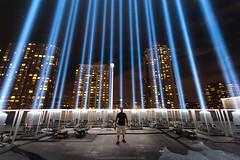 Tribute Lights 2014 (Lumn8tion) Tags: nyc blue ny newyork nikon 911 batterypark wtc gothamist tribute neverforget groundzero 2014 wtclights d700 paulkerphotography