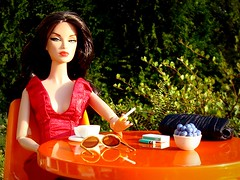 Shining Star Monogram (Deejay Bafaroy) Tags: red portrait orange rot scale coffee sunglasses table toys outdoors star miniatures miniature chair doll chairs monogram barbie kaffee portrt clutch 16 lighter cigarettes tisch fr shining stuhl diorama sonnenbrille sthle dioramas puppe draussen zigaretten integrity miniatur feuerzeug miniaturen fashionroyalty